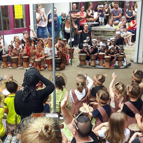 Auf die Trommel… fertig… los! Sommerfest der KITA Wiesenäcker mit stimmungsvoller Weltreise